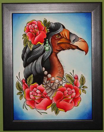 vince's vulture chick head.
