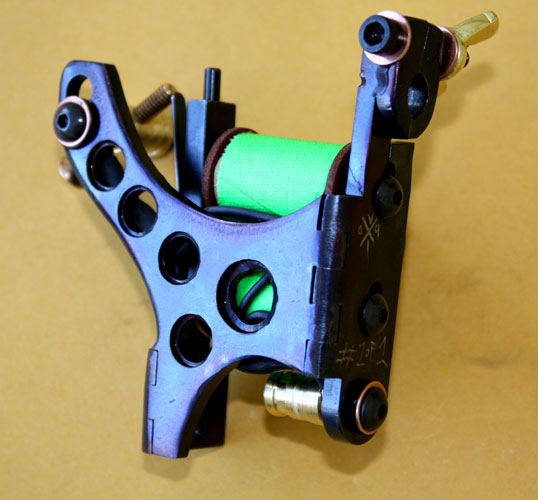 modified, drilled and blued model A.